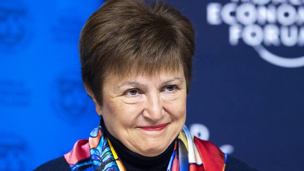 Der IWF will seine Schlagkraft mit einer rekordhohen Kapitalaufstockung massiv erhöhen. Die Generaldirektorin Kristalina Georgieva ist zufrieden. (Archivbild)