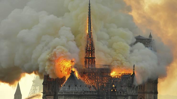Die Pariser Kathedrale Notre-Dame wurde bei einem Brand Mitte April schwer zerstört. (Archivbild)