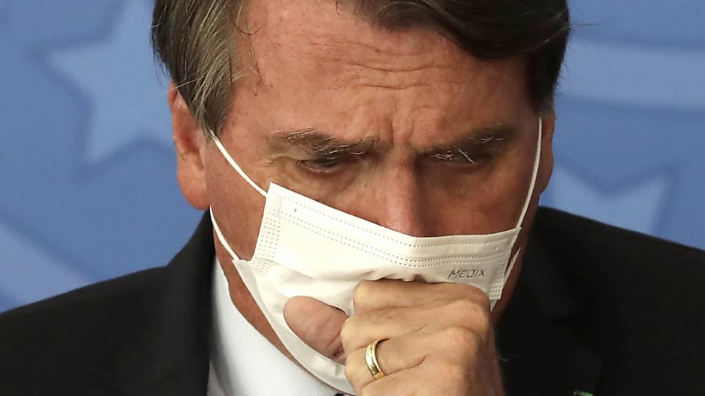 Präsident Jair Bolsonaro während einer Veranstaltung im Regierungspalast in Brasilia. Foto: Eraldo Peres/AP/dpa