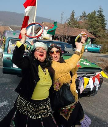 Lusttig ist das Zigeuenrleben des Skiclubs Erlinsbach.