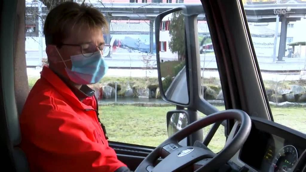 «Tag im Läbe vo»: Karin, Lastwagenfahrerin aus Engelberg