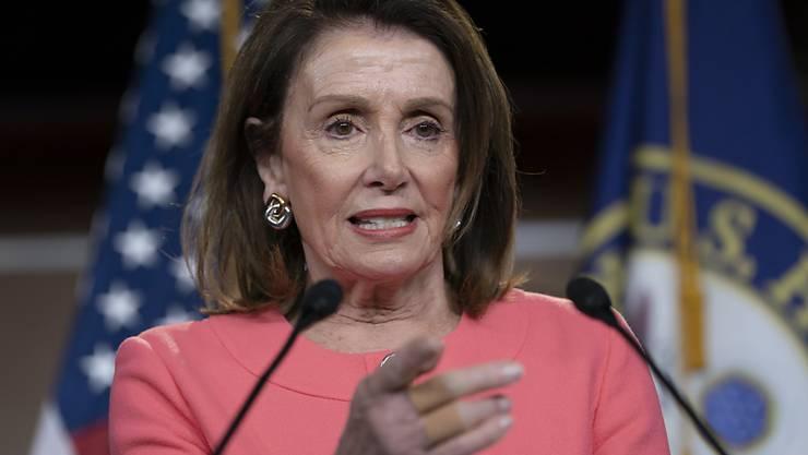 Legt sich mit dem US-Justizminister an: Nancy Pelosi, demokratische Vorsitzende des US-Repräsentantenhauses. (Archivbild)