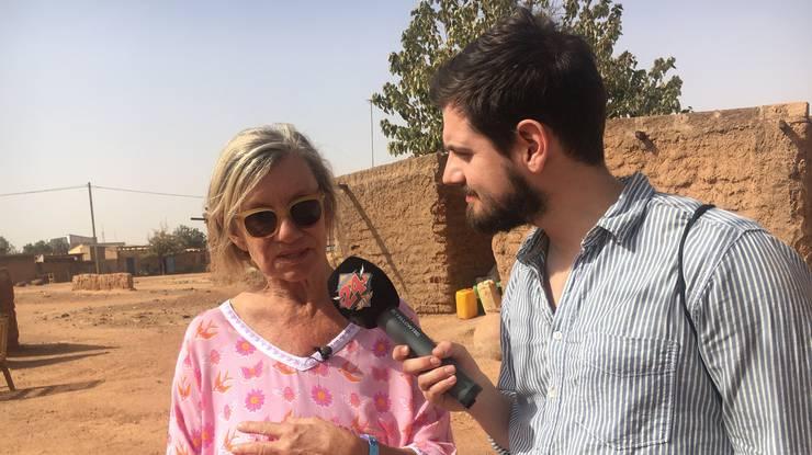Dominik und Bea Petri im Gespräch.