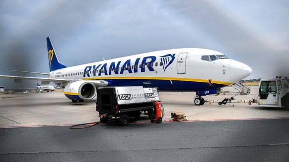 Eine Maschine der Ryanair.