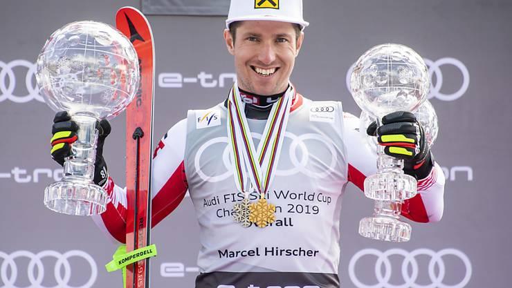 Hamstert Marcel Hirscher weiter Pokale und Medaillen: Der österreichische Ski-Superstar hat noch nicht über seine sportliche Zukunft entschieden