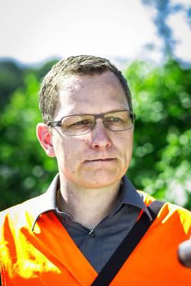 Dominik Studer, Leiter Unterhalt Abteilung Tiefbau.