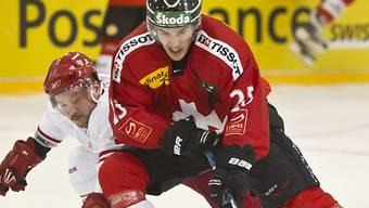 Thibaut Monnet (vorne) erzielte zwei Tore für die Schweizer
