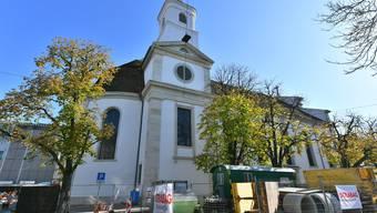 Christkatholische Stadtkirche Olten nach / während Renovation 10-2017
