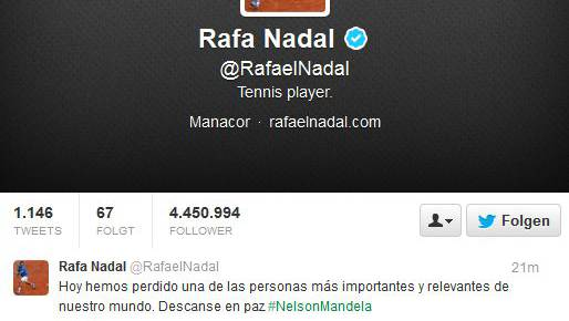 Rafael Nadal hatte Nelson Mandela schon für tot erklärt