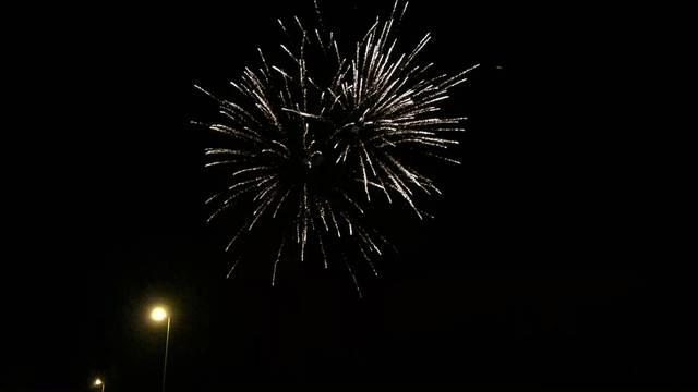 Nach der Hängung das Feuerwerk.