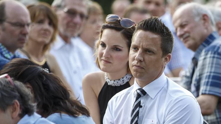 Nationalrat Christian Imark mit Ehefrau Carmen im Sommer 2016. Jetzt sind sie Eltern. (Archiv)
