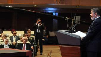 Mursi spricht in Kairo zum Verfassungsgericht