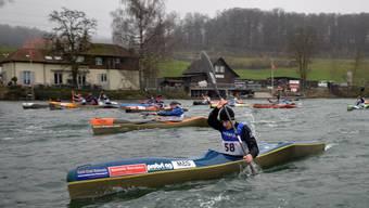 Die Solothurner Kanuten konnten bisher vor allem einzeln noch auf der Aare trainieren ‑ in anderen Sportarten war gar kein Trainingsbetrieb mehr möglich. Archivbild