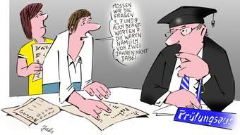 Früher in analogen Zeiten war das Schummeln noch weit weniger komplex... Im Online-Zeitalter setzt die Uni auf veränderte Testmethoden.