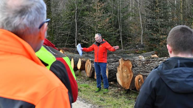 Georg Nussbaumer, Revierförster des organisierenden Forstreviers Unterer Hauenstein