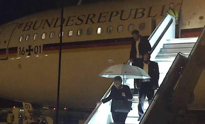 Merkel musste in Köln wieder aussteigen und von Madrid mit einem Linienflug weiterreisen.