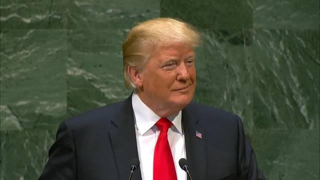 Hier wird Donald Trump an der UNO-Vollversammlung ausgelacht