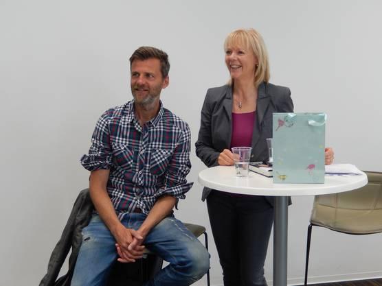 Alain Sutter und Gunhild Hinkelmann an der FHNW