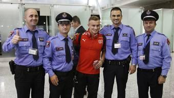 Schweizer Nati in Tirana gelandet