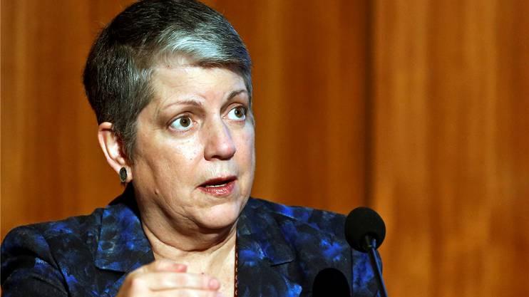 Janet Napolitano (58) amtete zwischen 2009 und Herbst 2013 als Ministerin für innereSicherheit im Kabinett vonBarack Obama. Seither ist sie Präsidentin der Universitätvon Kalifornien.