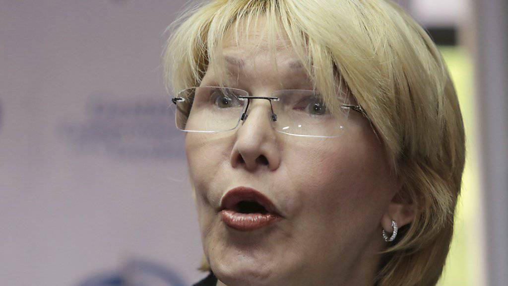 Noch ist Luisa Ortega Generalstaatsanwältin in Venezuela, doch gegen die Chávez-Anhängerin läuft ein Absetzungsverfahren. (Archivbild)