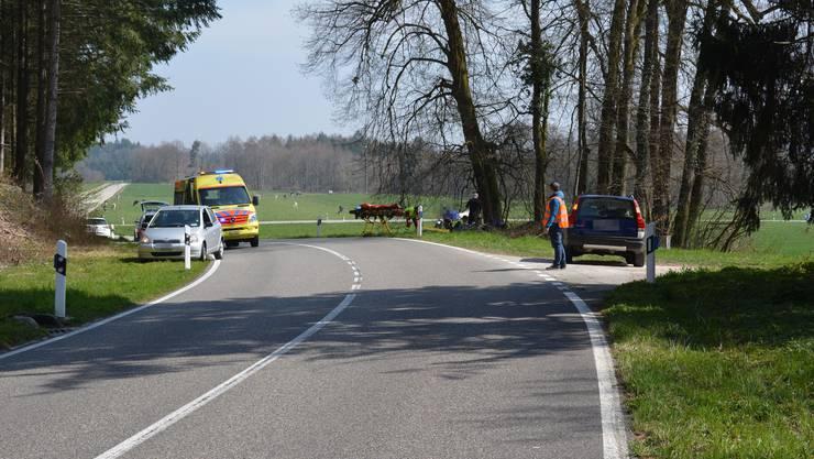 Der Unfall ereignete sich auf der Wolfwilerstrasse in Kestenholz.