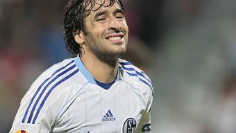 Europacup-Goalgetter Raul von Schalke 04 blieb ohne Erfolgserlebnis