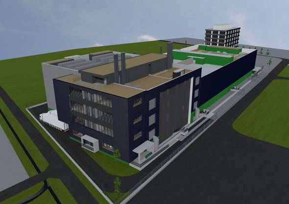 So wird das Datencenter Zürich West 3 einmal aussehen.