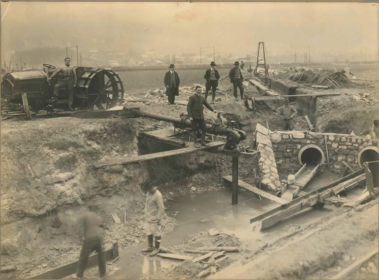 Bau Melirationsanlage Urner Reussebene, Herbst 1919