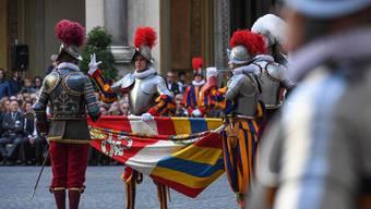 Päpstliche Bodyguards; Die Schweizergarde zählt 40 neue Gardisten in ihren Reihen.