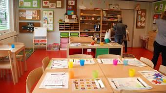 Der Mittagstisch an der Schulstrasse ist in einem Provisorium untergebracht. Die Betreuungs-Infrastruktur stösst angesichts des steigenden Bedarfs zusehends an ihre Grenzen.