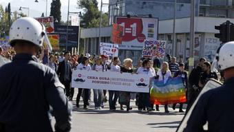 Erste Gay-Parade in Montenegros Hauptstadt Podgorica