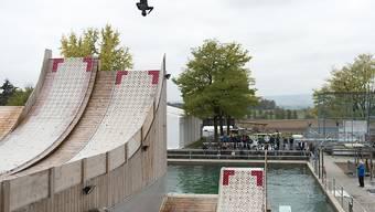 """Das """"Jumpin"""" in Mettmenstetten dient den Schweizer Freestyle-Athleten als Entwicklungs- und Trainingsstätte"""