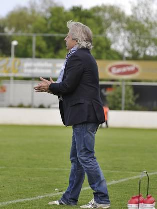 Trainer Rüetschli feuert an.