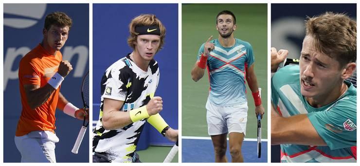 Pablo Careño Busta, Andrei Rublew, Borna Coric und Alex de Minaur rechnen sich ebenfalls Chancen auf den Sieg bei den US Open aus.