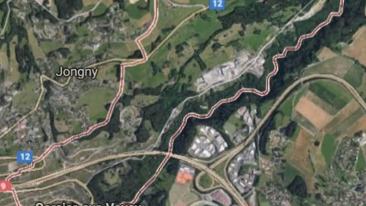 Ein Waldstück trennt Saint-Légier und Corsier-sur-Vevey. In Saint-Légier (rechts) starb laut Polizei die 70-jährige Frau am 17. Dezember 2016. Sie wurde nur wenige Kilometer weiter in einem Waldstück der Nachbargemeinde in einem Container abgelegt. Erst vier Monate später fand sie ein Spaziergänger.