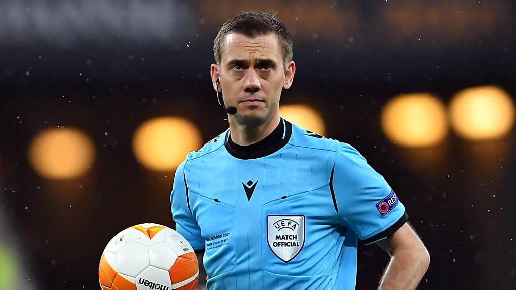 Der französische Schiedsrichter Clément Turpin leitete ein Gruppenspiel der Schweiz an der WM 2018 in Russland.
