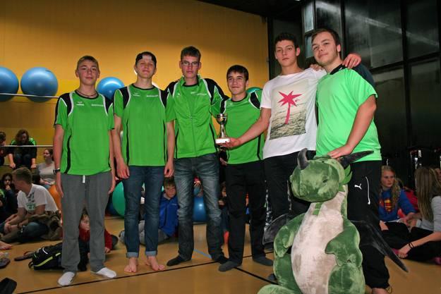 von Links: Kevin Buffa, Davin Mann, Rune Manssen, Valentin Barth, Fabio Rosato, Raphael Lüthy