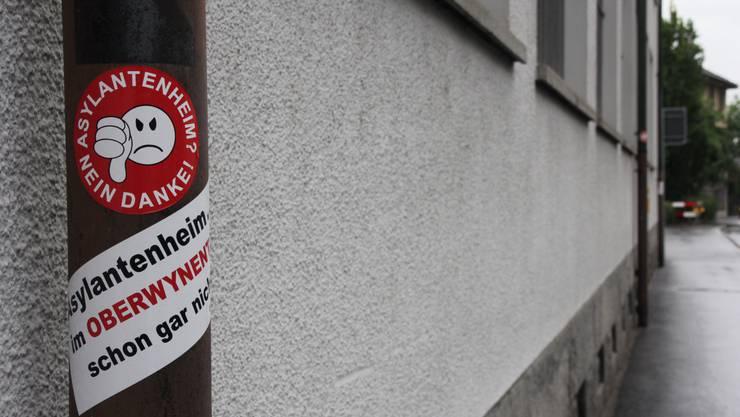«Asylantenheim im Oberwynental? Schon gar nicht!!», heisst die Message der unbekannten «Eidgenossen».
