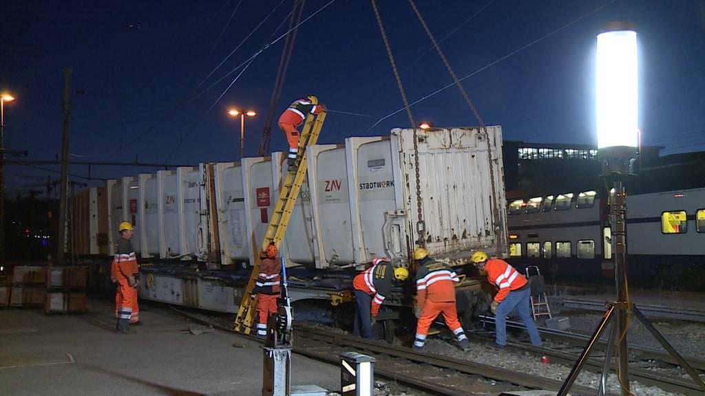 Winterthur: Güterzug entgleist