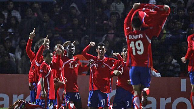 Costa Rica bejubelt seinen Sieg an der Copa America