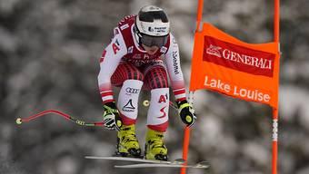 Nicole Schmidhofer unterwegs zur Bestzeit in der zweiten Abfahrt von Lake Louise