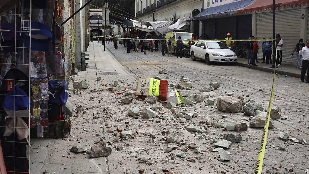 Schweres Erdbeben erschüttert Süden von Mexiko
