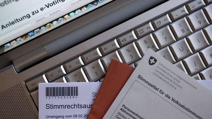 Stimmzettel für E-Voting.