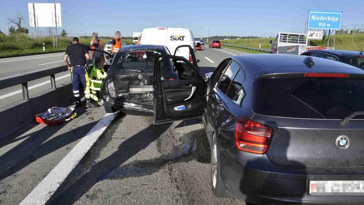 Eine Person verletzte sich beim Unfall.