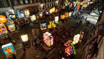 Ladäärne-Ausstellung auf dem Münsterplatz