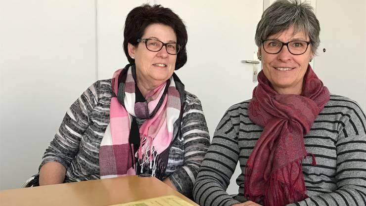 Margrit Buchwalder, Oensingen und Elisabeth Loser, Langendorf leisten mit ihrer freiwilligen Arbeit beim Katholischen Frauenbund viel für die Gesellschaft.