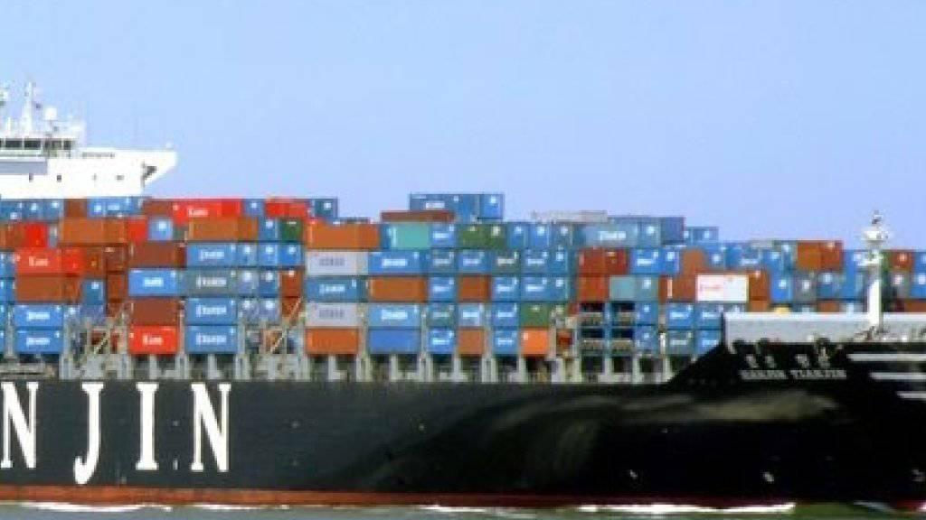 Die südkoreanische Container-Reederei Hanjin Shipping steht vor dem Aus. (Archiv)