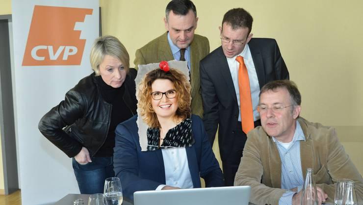 Schon bald muss die CVP-Taktik für 2019 stehen. Statt wie 2015 Marc Scherrer (verdeckt) lenkt nun Brigitte Müller die Geschicke, begleitet von Nationalrätin Elisabeth Schneider (l.) und Fraktionschef Felix Keller (r.)