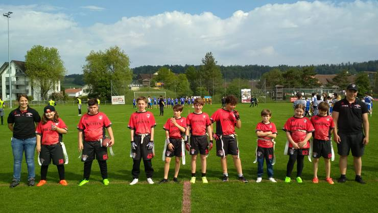 U13 Flag Football Team der Argovia Pirates